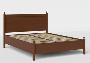 Marbella Low Footend Wood Bed in Dark Cherry shown with slatted frame - Thumbnail
