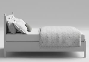 Marbella Low Footend Wood Bed in White - Thumbnail