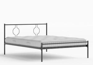 Meiji Iron/Metal Bed in Satin Black shown with Juno 1 mattress - Thumbnail