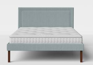 Misaki Upholstered Bed in Wedgewood fabric shown with Juno 1 mattress - Thumbnail