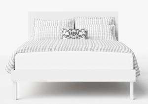 Misaki Wood Bed in White - Thumbnail