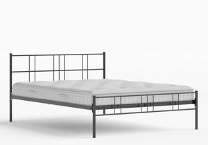 Mortlake Iron/Metal Bed in Satin Black shown with Juno 1 mattress - Thumbnail