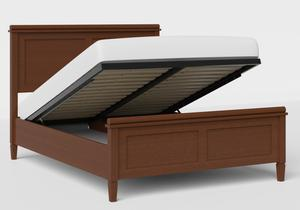 Nocturne Wood Bed in Dark Cherry shown with ottoman base - Thumbnail