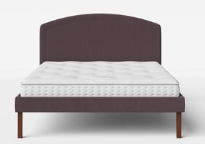 Okawa Upholstered Bed in Aubergine fabric shown with Juno 1 mattress - Thumbnail