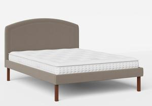 Okawa Upholstered Bed in Grey fabric shown with Juno 1 mattress - Thumbnail