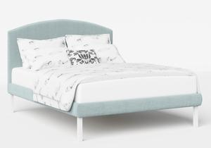 Okawa Upholstered Bed in Wedgewood fabric shown with Juno 1 mattress - Thumbnail