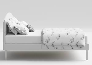 Okawa Wood Bed in White - Thumbnail