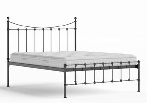 Olivia Iron/Metal Bed in Satin Black shown with Juno 1 mattress - Thumbnail