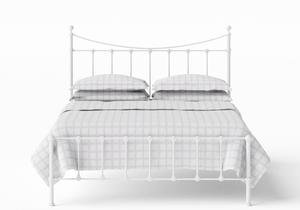 Olivia Iron/Metal Bed in Satin White - Thumbnail