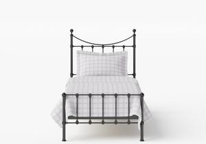 Olivia Single Iron/Metal Bed in Satin Black - Thumbnail