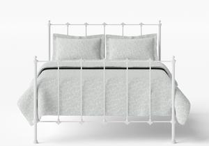Paris Iron/Metal Bed in Satin White  - Thumbnail