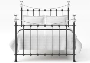 Selkirk Iron/Metal Bed in Satin Black with Chrome details  - Thumbnail