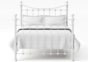 Selkirk Iron/Metal Bed in Satin White with white painted details  - Thumbnail