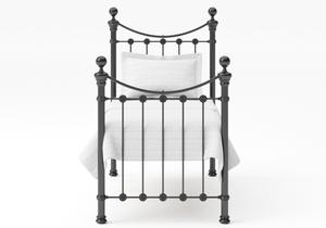 Selkirk Single Iron/Metal Bed in Satin Black with Black painted details  - Thumbnail