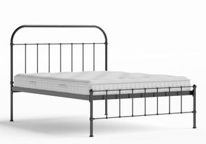 Solomon Iron/Metal Bed in Satin Black shown with Juno 1 mattress - Thumbnail