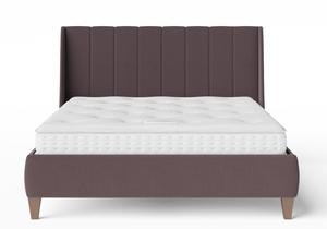 Sunderland Upholstered bed in Aubergine fabric shown with Juno 1 mattress - Thumbnail