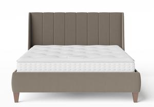 Sunderland Upholstered bed in Grey fabric shown with Juno 1 mattress - Thumbnail