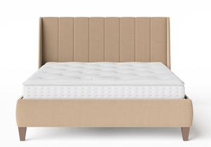 Sunderland Upholstered bed in Straw fabric shown with Juno 1 mattress - Thumbnail