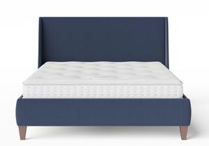 Sunderland Upholstered bed in Navy fabric shown with Juno 1 mattress - Thumbnail