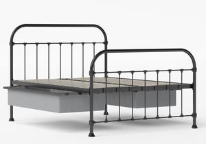 Timolin Iron/Metal Bed in Satin Black shown with underbed storage - Thumbnail