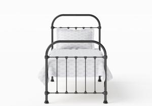 Timolin Single Iron/Metal Bed in Satin Black - Thumbnail