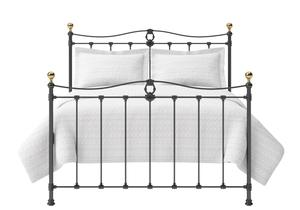 Tulsk Iron/Metal Bed in Satin Black with Brass details  - Thumbnail