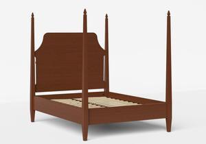 Turner Wood Bed in Dark Cherry shown with slatted base - Thumbnail