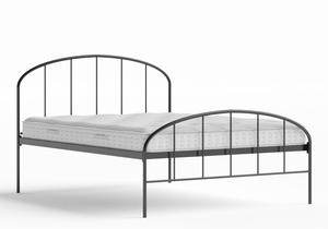 Waldo Iron/Metal Bed in Satin Black shown with Juno 1 mattress - Thumbnail