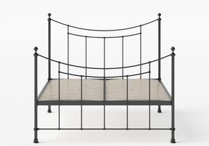 Winchester Iron/Metal Bed in Satin Black shown with slatted frame - Thumbnail