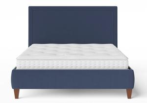 Yushan Upholstered Bed in Navy fabric shown with Juno 1 mattress - Thumbnail