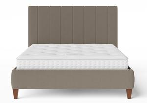 Yushan Upholstered Bed in Grey fabric shown with Juno 1 mattress - Thumbnail