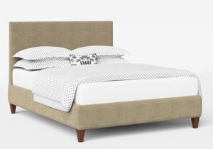 Yushan Upholstered Bed in Straw fabric shown with Juno 1 mattress - Thumbnail