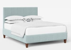 Yushan Upholstered Bed in Wedgewood fabric shown with Juno 1 mattress - Thumbnail