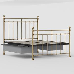 Blyth brass bed with drawers - Thumbnail