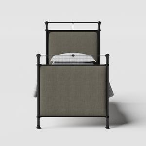 Lille iron/metal single bed in black - Thumbnail