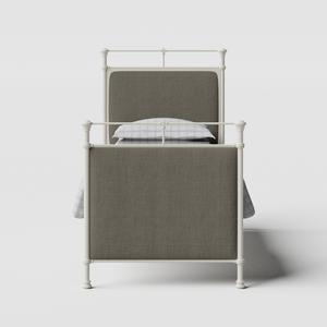 Lille iron/metal single bed in ivory - Thumbnail