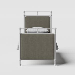 Lille iron/metal single bed in white - Thumbnail
