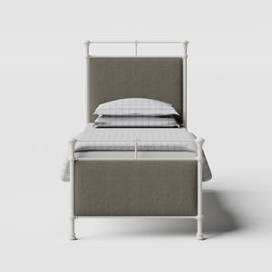 Nancy iron/metal single bed in ivory - Thumbnail