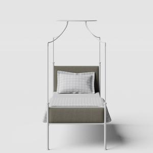 Waterloo iron/metal single bed in white - Thumbnail