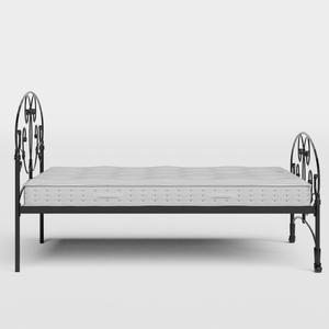Arigna iron/metal bed in black with Juno mattress - Thumbnail