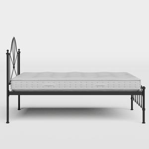 Athena iron/metal bed in black with Juno mattress - Thumbnail