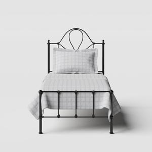 Athena iron/metal single bed in black - Thumbnail
