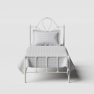 Athena iron/metal single bed in ivory - Thumbnail