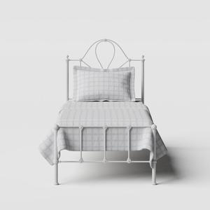 Athena iron/metal single bed in white - Thumbnail