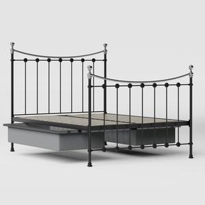 Carrick Chromo iron/metal bed in black with drawers - Thumbnail