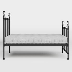 Carrick Chromo iron/metal bed in black with Juno mattress - Thumbnail
