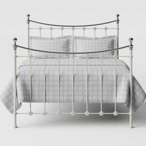 Carrick Chromo iron/metal bed in ivory - Thumbnail