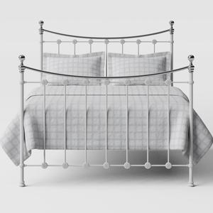 Carrick Chromo iron/metal bed in white - Thumbnail