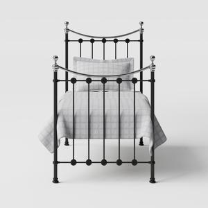 Carrick Chromo iron/metal single bed in black - Thumbnail