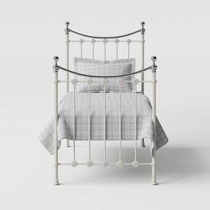 Carrick Chromo iron/metal single bed in ivory - Thumbnail